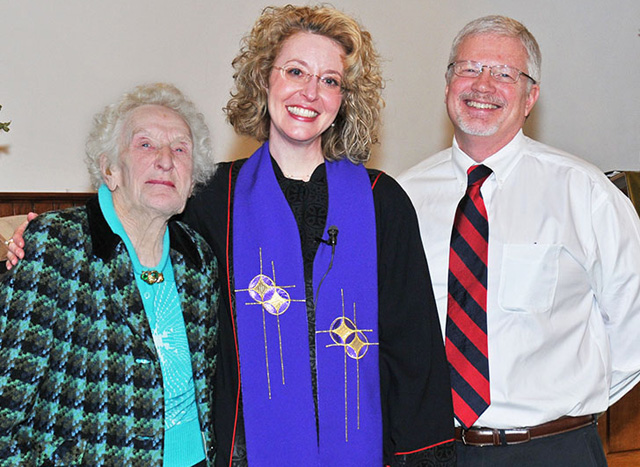 Rev Shannon DeLaurel, her husband and Miss Vera Girvan