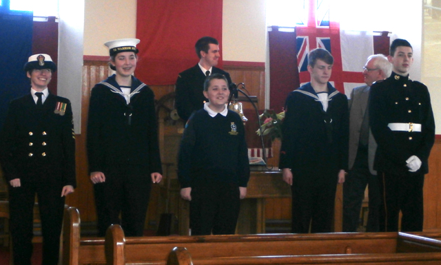 Various ranks of Sea Cadets