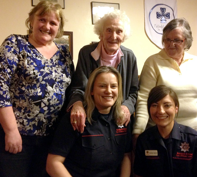 Methodist Women in Ireland meet the Firefighters