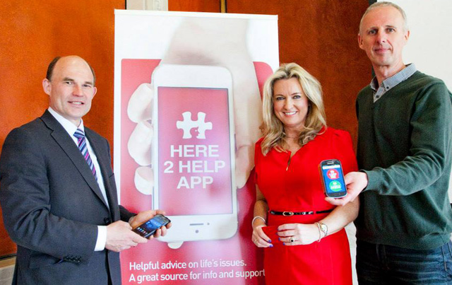 Roy Beggs MLA, Jo-Ann Dobson, MLA and Noel McKee at the launch of Here2Help App